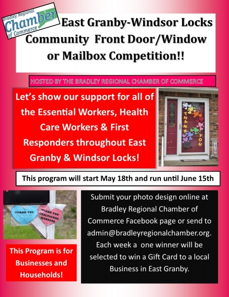 East Granby-Windsor Locks Community  Front Door/Window      or Mailbox Competition!!